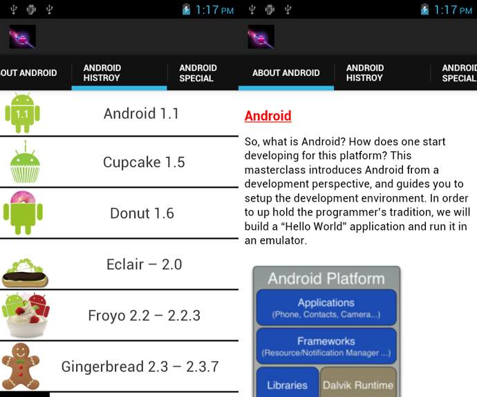 google android info