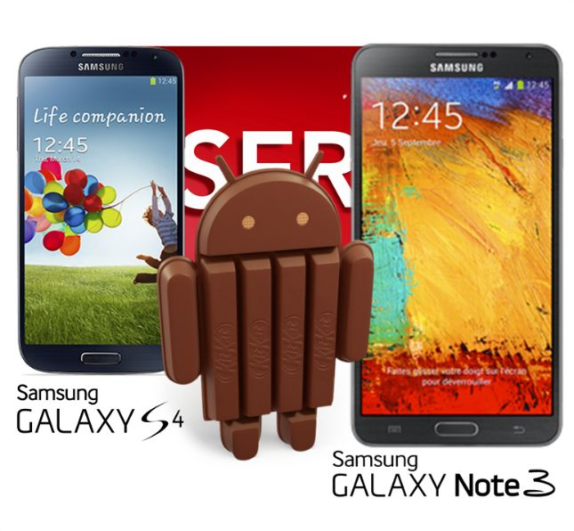Android KitKat Galaxy S4 Note 3