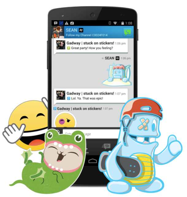 bbm stickers android