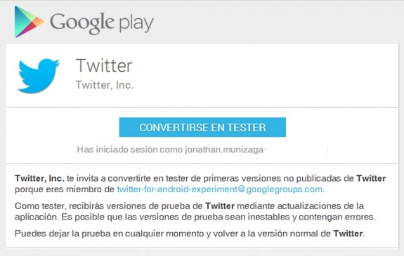 Twitter-beta-tester-android