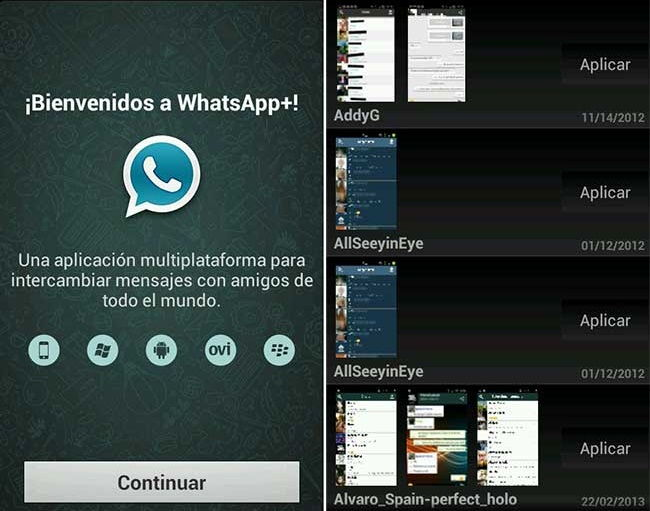 actualizar whatsapp gb