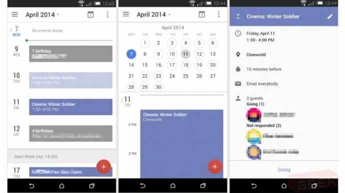 android 4.5 calender