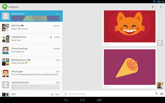 stickers for hangout android