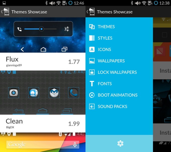 Cyanogen Theme Showcase