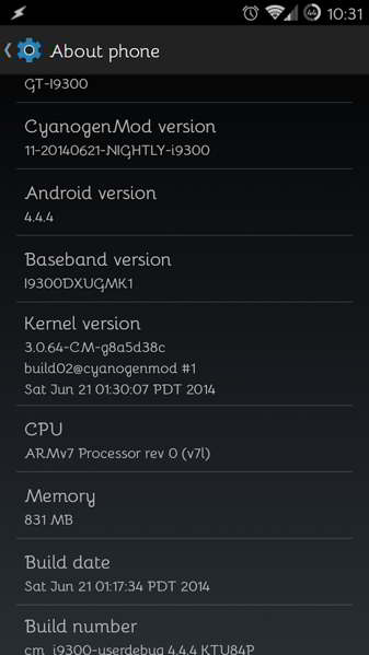 android 4.4.4 cyanogenmod