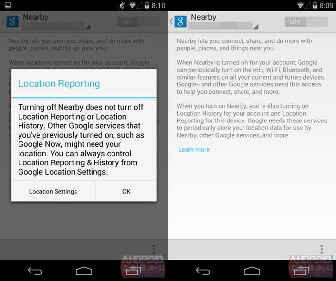 google nearby android