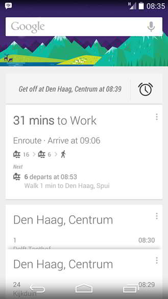 google now alarmas paradas