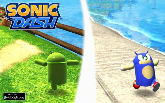 sonic dash android robot