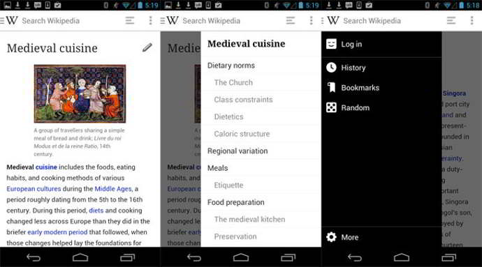 wikipedia beta v2.0 android