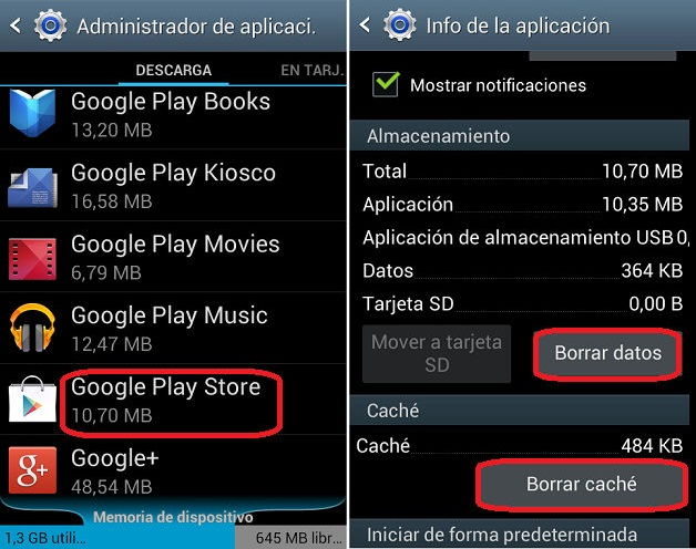 Errorres Play Store