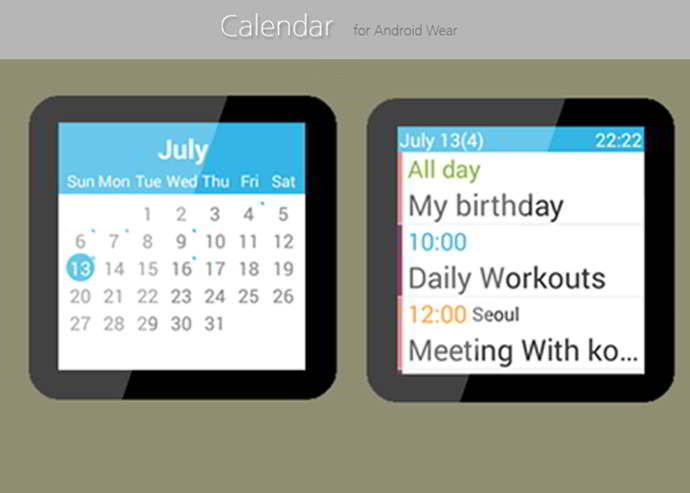 calender for android wear