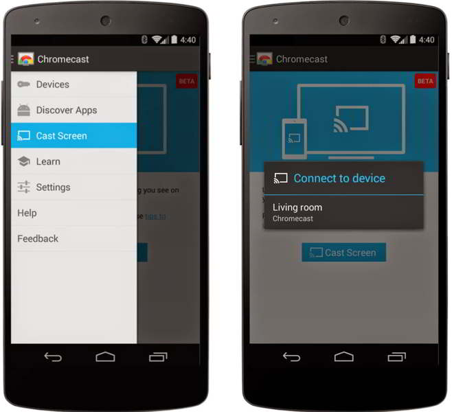 chromecast mirroring android
