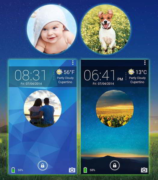 galaxy photo screen lock android