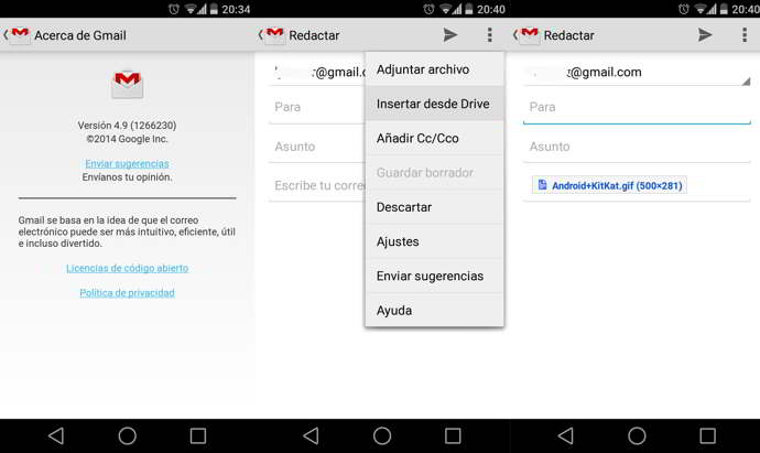 gmail google drive android