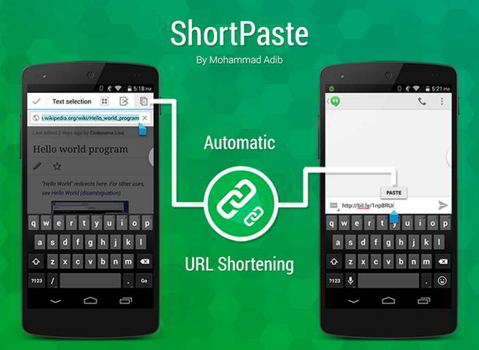 shortpaste android