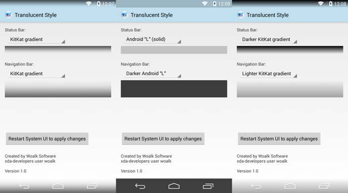 translucent style android