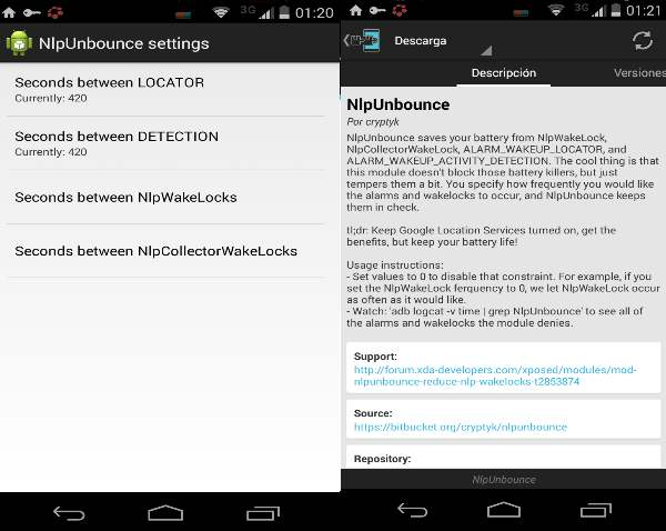 NlpUnbounce Xposed Android