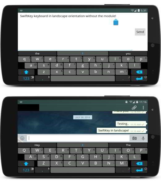 disable fullscreen keyboard android