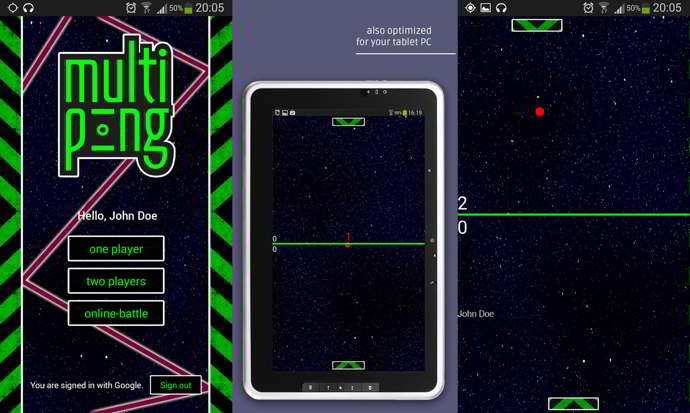 multiplayer ping pong android