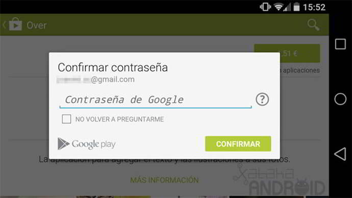 play store contraseña android