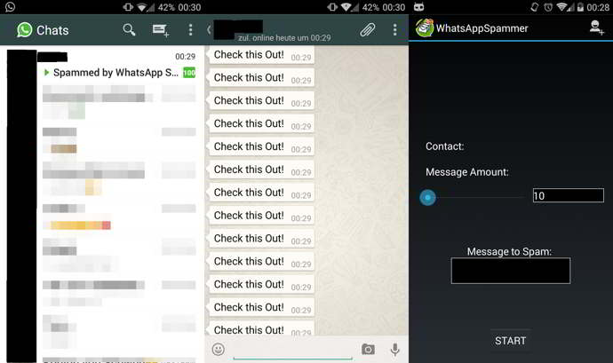 whatsapp spammer android