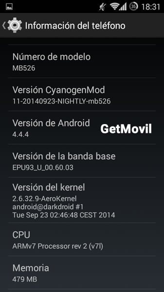 Android 2.3.6 Defy Plus