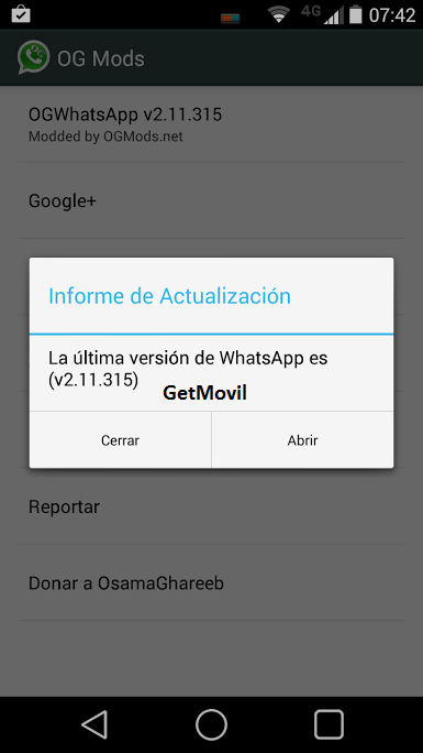 Instalar OGWhatsApp Android