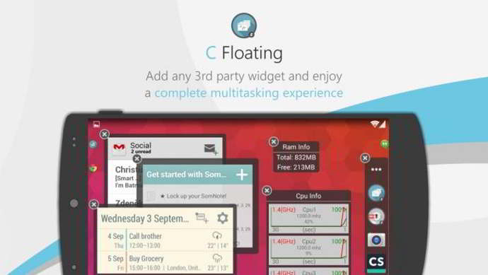 c floating android