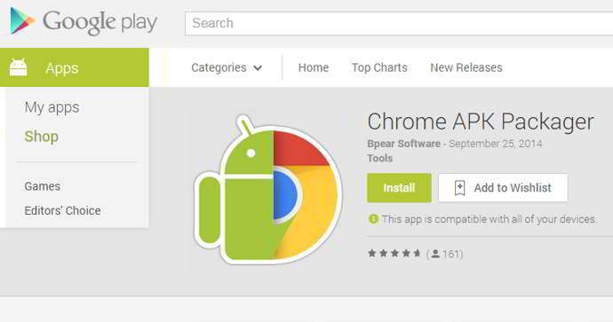 chrome apk manager android