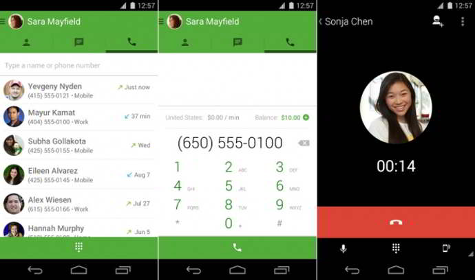 hangouts dialer android