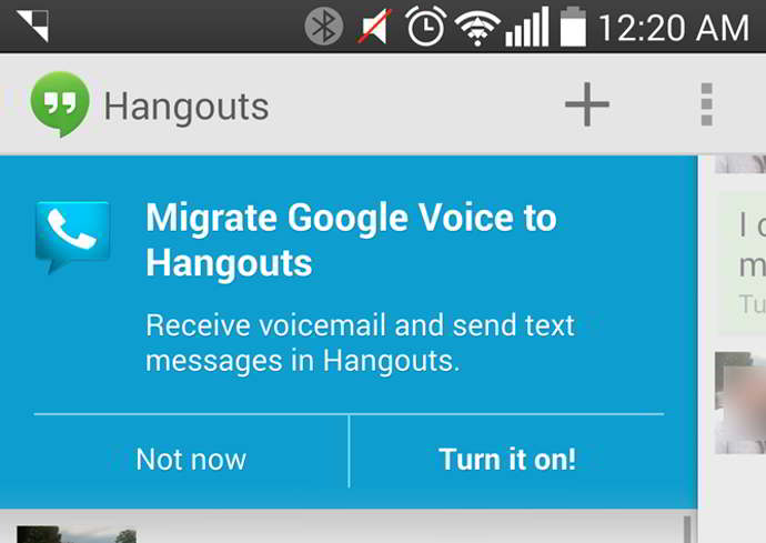 hangouts google voice android