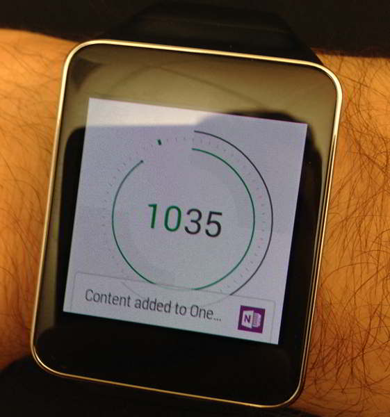 onenote for android wear android