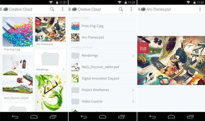 adobe creative cloud android