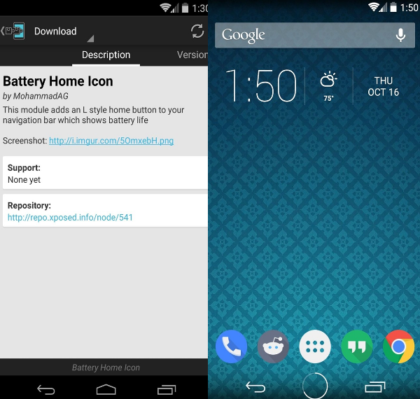 battery home icon xposed android