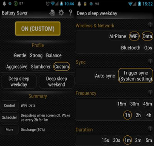 deep sleep battery saver android
