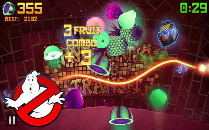 fruit ninja ghostbusters android