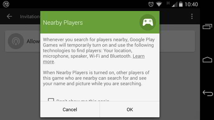 google play games jugadores cercanos android