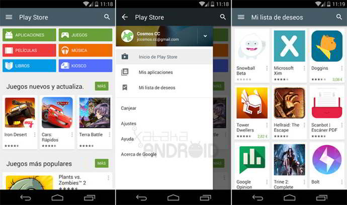 play store v5.0 android