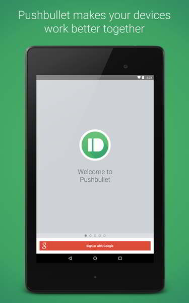 pushbullet material design android