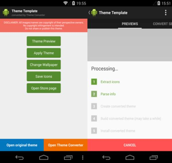 theme converter launcher android