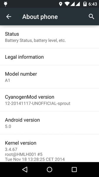 cm12 android one rom