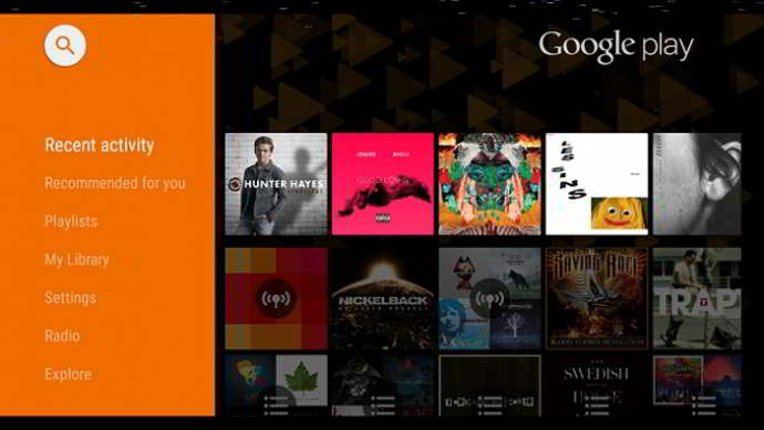 google play music android tv
