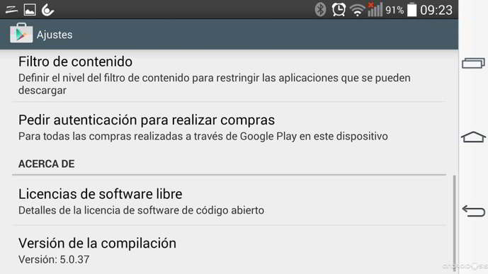play store v5.0.37 android