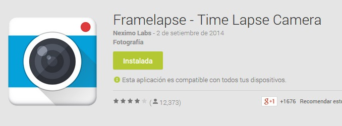 Framelapse android time lapse