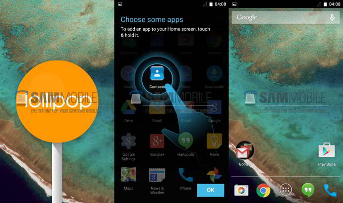 android 5.0 lollipop galaxy s4 play edition