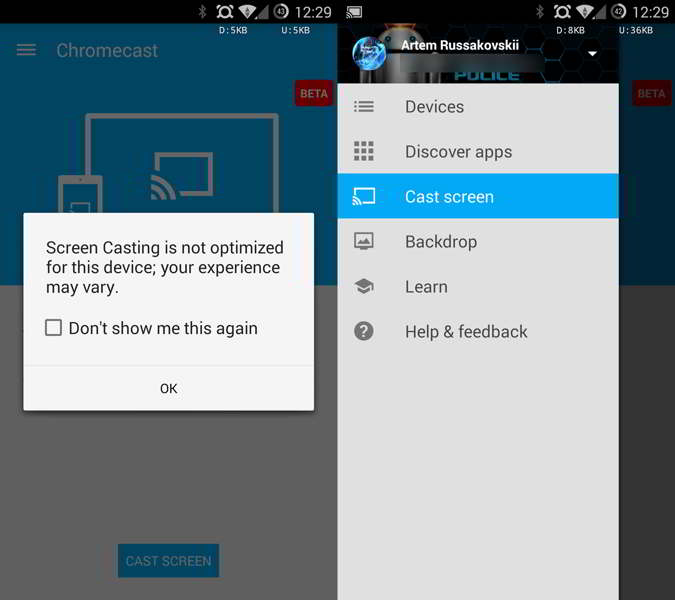 chromecast v1.9.6 android