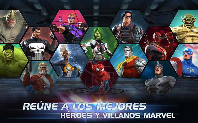 marvel batalla de superhéroes android