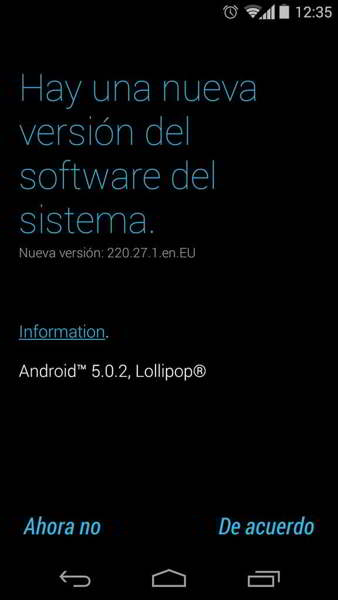 android 5.0.2 lollipop moto g 2013