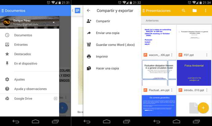 documentos de google office android