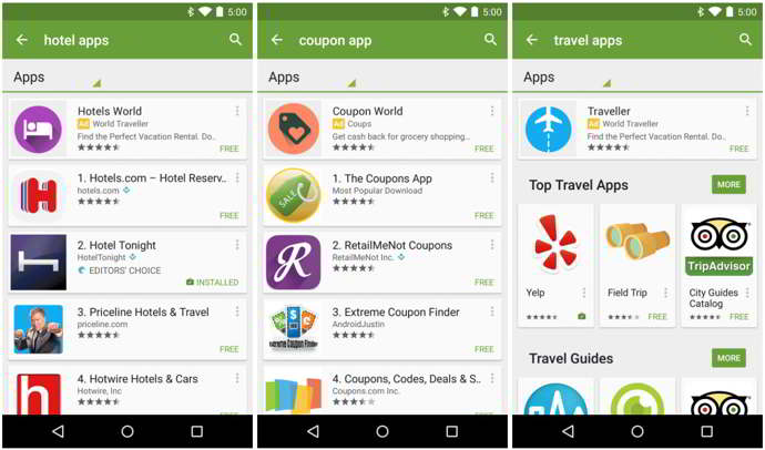 play store apps patrocinadas android